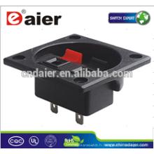 Daier WP2-12 2P clip printemps noir et rouge haut-parleur Terminal Board Wire Terminal Clip