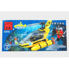 Aqua Série Designer Submarino 100PCS Bloqueia Brinquedos