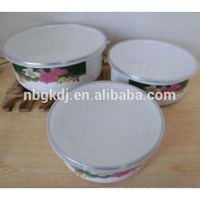 Esmalte de cultura china Cuenco con tapa