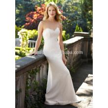 NA1024 Frete grátis Mermaid Sweetheart Sweep Train Backless Lace Wedding Dress