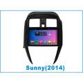 Sistema de Android GPS de coche para Sunny 9 pulgadas de pantalla táctil con navegación / Bluetooth