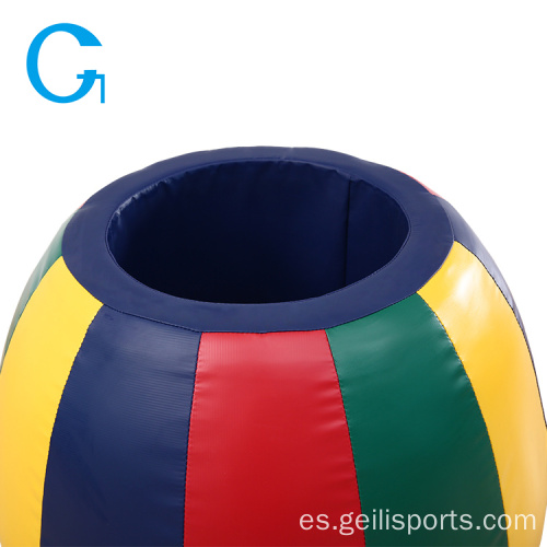 Kids Soft Play Foam Rainbow Barrel para parque infantil