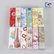 boîte de carton d'emballage de rouge à lèvres fait main coloré mignon pour les enfants