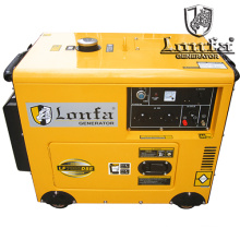 Super Silent 5kw 6kVA Portable Household Gasoline Generator with Wheels