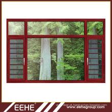 Seção de janela de alumínio deslizante estilo aberto e janela deslizante de alumínio e porta