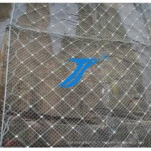 Réseau de protection de la montagne, barrière de montagne.
