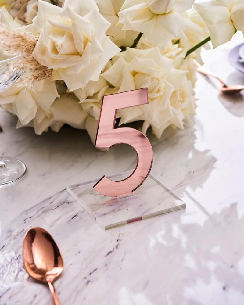 Acrylic Table Number Sign