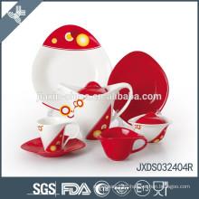practical toy porcelain tea set