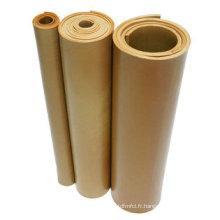 26MPa, 40sh a, 800%, 1.05g / cm3 Feuille de caoutchouc naturel pur, feuille de caoutchouc de gomme, feuille de caoutchouc PARA,
