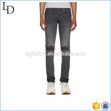 Slim-fit stretch denim calças de carga baggy biker denim pants