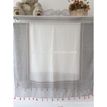 Bufanda larga de poliéster ligera hecha