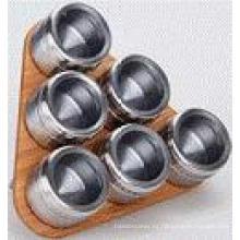 Especiero magnético de acero inoxidable (CL1Z-J0604-6J)