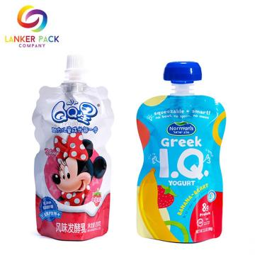 BRC Standard Reclosable Baby Food Pouch Dengan Spout