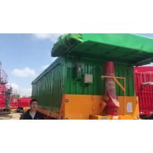 Tractor Hydraulic Dump Trailer Dumping