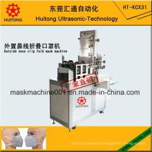 Ultrasonic Automatic Fold Mask Body Machine of Outside Nose Clip