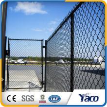 Clôture de maillon de chaîne enduit de PVC de diamètre de 5mm vert foncé de qualité supérieure pour le baseball