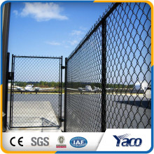 Top quality Dark green 5mm wire diameter PVC coated Chain link fence for baseball