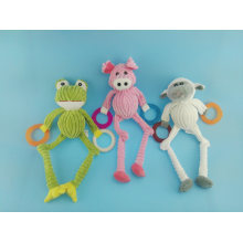 Long Leg Cutton Rope Piggy Toy with Rubber Ring