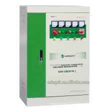 Regulador / estabilizador de voltaje de la corriente alterna de la energía compensada de la serie de tres fases de SBW-180k de encargo