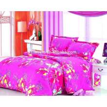 2017 wholesale cheap pink falnnel 4ps bedding set