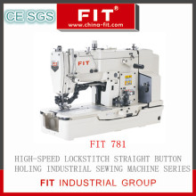 Alta velocidade Lockstitch de máquina de costura reta botão buraco (FIT781)
