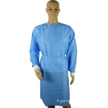 Robe d'isolation médicale jetable de l'hôpital chirurgical