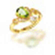 1.20CT Pear Cut Natural Green Peridot Rings for Women Real Pure 925 Sterling Silver Ring Fine Brand Jewelry Promotion
