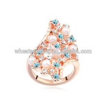 Nouveaux anneaux de fiançailles en cristal australien de mode