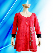 100% Cotton Lady′s Allover Print Nightdress