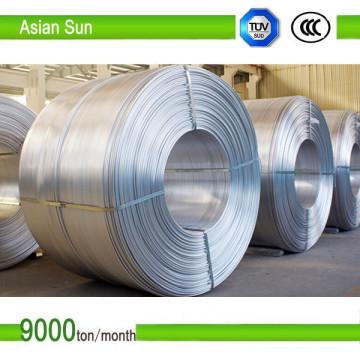 IEC-geprüfter 1350 Typ 9,5 mm Aluminiumdraht zum Drahtziehen