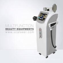 Equipamento multifuncional do salão de beleza da cavitação + do yag Laser + ipl + rf