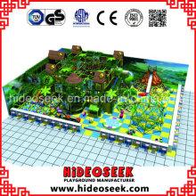 Three House Style Playground Indoor mit Rutsche und Seilklettern