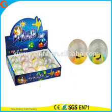 Hot Sell Kid's Toy 65mm Rubber LED Flashing Smiley Light-up Hi Bouncing Ball