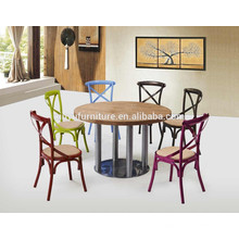 Round durable table and farm chair for sale XYN1135