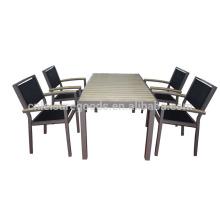 5PCS aluminum patio dining table