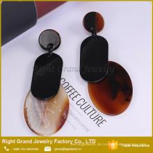 Einzigartige Kette Ohrring Set Trendy Drop Anweisung Ohrringe Acylic Dangle Frauen Ohrringe