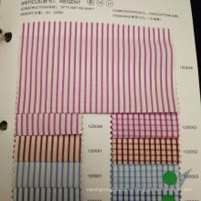 Розовый цвет полосы дизайн 100% хлопок рубашка ткань очистить запасов тканей