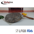 Forged aluminum granite stone coating fry pan without induction