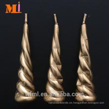 Alta demanda de diferentes colores disponibles Vela de cuerno de unicornio de oro al por mayor