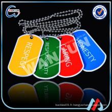Étiquettes de chien colorées promotionnelles en métal peu coûteuses (dt-115)