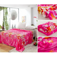 100 Polyester Rotary Druck Flanell Fleece-Decke