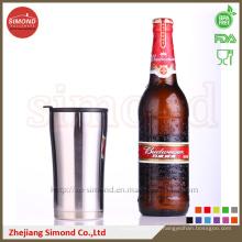 Tasse de bière à vide de 12 oz pour garder l'eau froide, Thermos avec couvercle