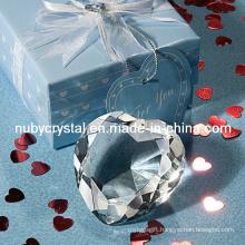 Wedding Favors Crystal Heart Diamond Paperweight