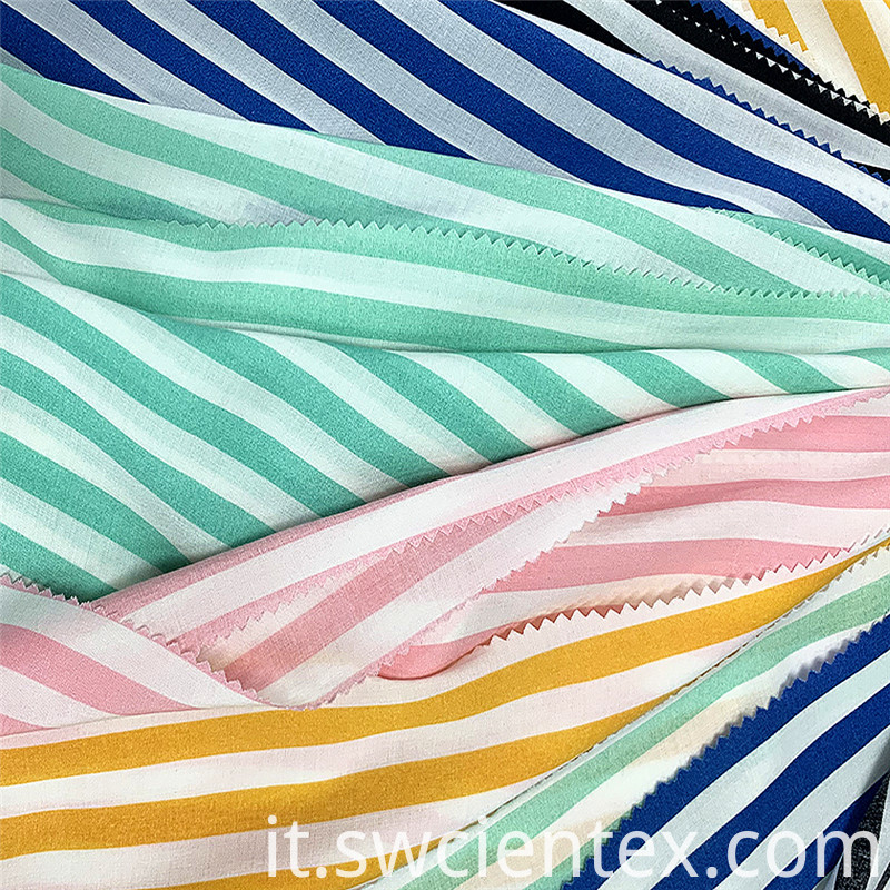 Breathable Striped Rayon Fabric 2