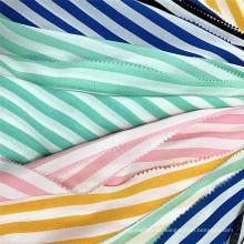 Custom Shirting Textile 100% Rayon Striped Printed Fabric