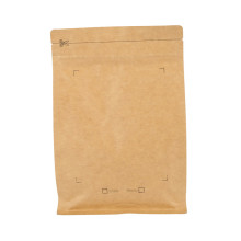 Grosir Kecil Datar Kraft Foil Ziplock Coffee Packing Paper Bag