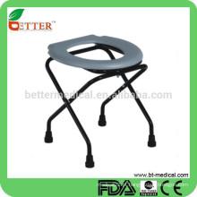 Assento de vaso sanitário com molho em aço revestido de aço