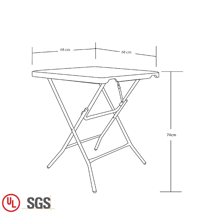 Plastic Square Folding Table