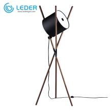 Lampadaire LED en bois LEDER