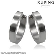 Aro de aço inoxidável simples do brinco da jóia da forma 92112 na liga do metal
